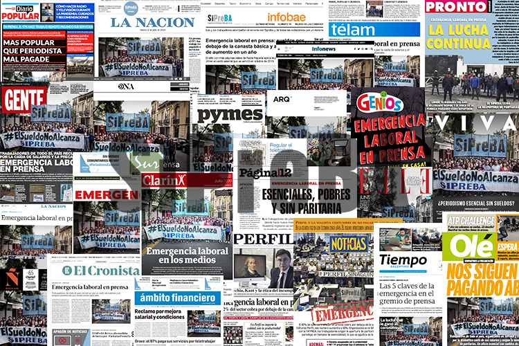 El SiPreBA pone en tapa su reclamo y exige #ParitariasPrensaYA