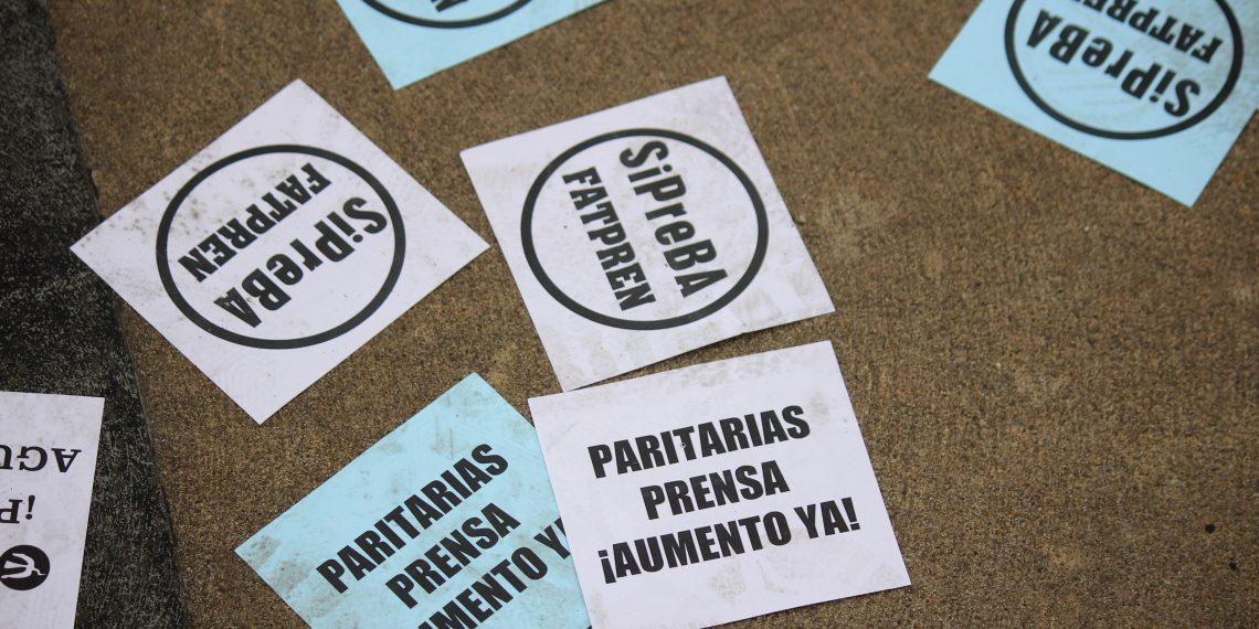 EL SiPreBA realizó un acto frente a Perfil y mantiene el reclamo salarial