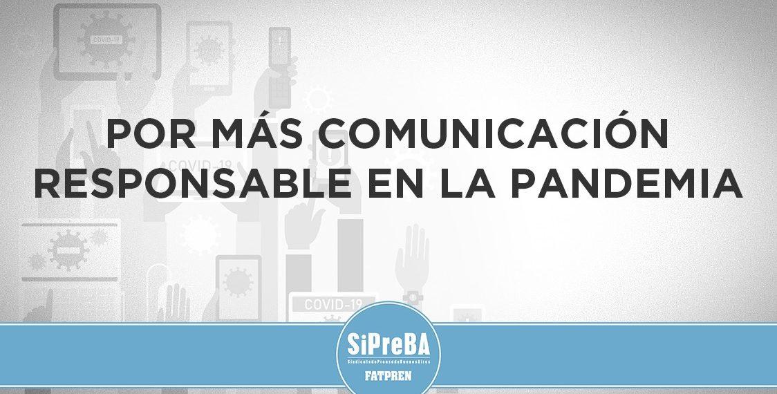 Por más comunicación responsable en la pandemia