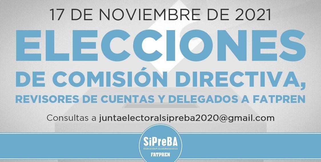 Elecciones SiPreBA 2021: comunicación de la Junta Electoral